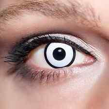 Weiße Kontaktlinsen farbige Zombie Motivlinsen Jahreslinsen Halloween Weiß;K514