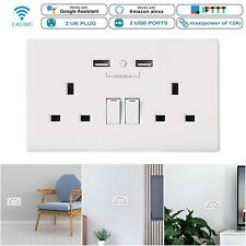 Automation Switch WiFi Smart Socket Dual USB Outlet eWeLink App Remote Control