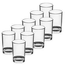 Roltex Shot Glasses 50ml Set of 6, 10, 50,100 HQ Clear Unbreakable Plastic Cups