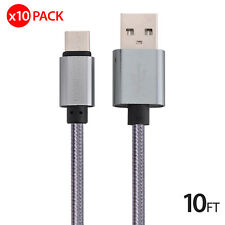 10x 10FT USB Type C Data Charger Charging Cable Cord for Samsung Galaxy S8 LG G6