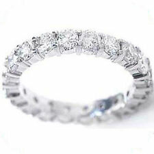 1.70 carat Round Diamond Ring 14k Gold Eternity Band G SI1 size 7 0.07 ct each