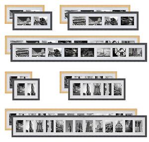 Collage Holz Bilderrahmen Galerie mit Passepartout für 2 - 13 Fotos 10x15 13x18