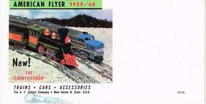ORIGINAL 1959-'60 AMERICAN FLYER FOLDOUT CATALOG - EXCELLENT CONDITION! D2146