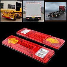 2X 19 LED Trailer Truck RV ATV Turn Signal Running Tail Light #V White-Amber-Red