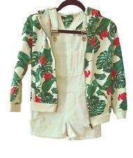 Zara Girls Jungle Hoodie & White Romper Size US 9 Eur 134