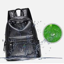 Waterproof PU Leather Travel Backpack Korean Women Backpack Student School Bag