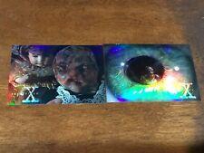 The X-Files Topps Season Three 3 Lot of 2 Chromium Chase Cards 1996 X3PF1 X3PF2