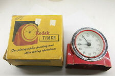 Kodak Red Darkroom Timer - Works but tight on/off switch -  with Box - USED E04