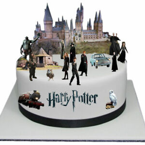 Harry Potter Scene Edible Thick Wafer Paper Cake Toppers Decorations