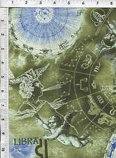 Fabri Quilt Horoscope New Dawn Libra sign 100% cotton fabric by the yard