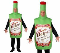 Green Funny Beer Bottle Tabard One Size Fast Post Mens Fancy Dress Costume New