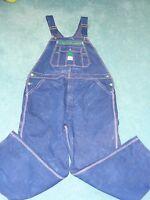 LIBERTY mens dark blue denim bib carpenter overalls 44X29.5 EXCELLENT condition