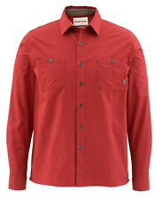 SIMMS BLACK'S FORD FLANNEL SHIRT - Ruby - SALE - Free US Shipping
