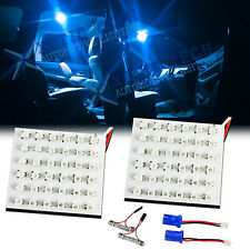 2x Ice Blue 36-SMD LED Panel Lamps For Car Interior Map Dome Cargo Area Lights