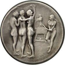 [#551950] France, Medal, Le Journal, 100 Rue Richelieu, Paris, Femmes Nues