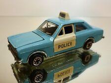 DINKY TOYS 1:43  - FORD ESCORT POLICE  NO= 270 - RARE COLOR  - GOOD CONDITION