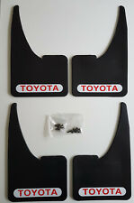 NEW TOYOTA Red / White Mudflaps + Fitting Screws Full Set Of 4 Universal Fit
