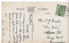 Genealogy Postcard - Family History - Dodd - Kings Heath - Birmingham  BX957
