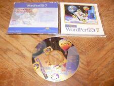 Corel WordPerfect Suite 7 PC CD-ROM 1996 Quattro Pro 7 Presentations 7 Windows95