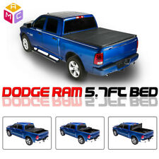 For Dodge Ram 2009-2018 1500 2500 5.7FT TRI SOFT-FOLD TRUCK Tonneau Bed Cover