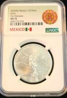 2020 MEXICO SILVER LIBERTAD 1/2 ONZA NGC MS 70 KEY DATE SCARCE PERFECT COIN !!!