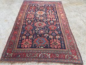 Antique HandMade Natural Dye Persian Wool Rug 230x139cm country house chic