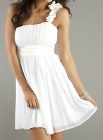 Women's Juniors Sequin Hearts Off White Tullle Short Cocktail Formal Dress Small