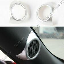 Silver ABS A Pillar Door Stereo Speaker Cover Trim for Ford Mustang 2015-2017