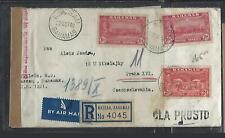 BAHAMAS COVER  (P1211B) 1948 TERCENT 10DX2+2D REG A/M COVER TO CZECHOSLOVAKIA