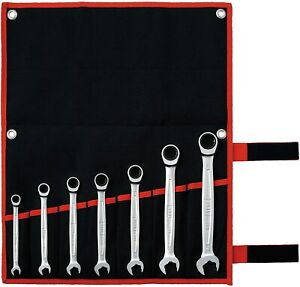 TONE 8-19mm Ratchet Ring Wrench Ratcheting Spanner Head Set RMQ700 Japan