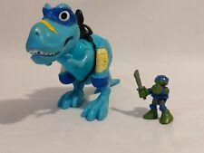 2015 Teenage Mutant Ninja Turtles Leonardo And Blue T-rex Dinosaur