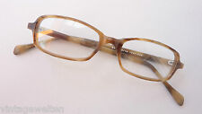 Brillenfassung Brille Hornoptik braun gerade Form Herrengestell Rahmen Grösse S