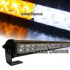 Amber&White 36 LED Traffic Advisor Emergency Strobe Flash Warning Light Bar C01