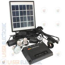 Kit Pannello Solare 4W + Centralina XT5000A Batterie + 3 Lampadine a Led + Cavi
