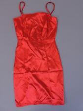 Nasty Gal Women's Sleeveless Square Neck Satin Bodycon Mini Dress KB8 Red US:2