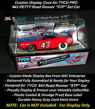 """Custom Display Case:  TYCO PRO #43 PETTY Road Runner """"STP""""  (1976 Set Only Car)"""