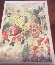 Vintage Christmas Advent Calendar  Paper Glitter Envelope Western Germany