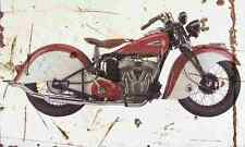 Indian Sport Scout 1940 Aged Vintage SIGN A3 LARGE Retro