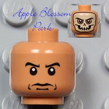 NEW Lego Indiana Jones Medium FLESH MINIFIG HEAD w/Painted Skeleton Skull Mask