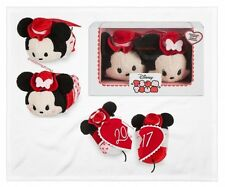Authentic 2017 Mickey And Minnie Valentine Tsum Tsum Boxed Set Disney Store USA