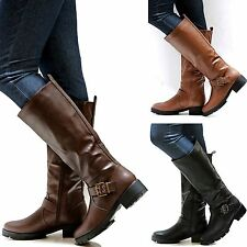 New Women FE13 Tan Brown Black Riding Knee High Boots size 6 - 10