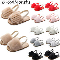 Toddler Infant Shoes Baby Girl&Boy Solid Flock Sandals Slipper Casual Shoes