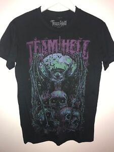 Team Hell - Godmachine Bat Mens T-Shirt - Small, streetwear, tattoo, skate, Pur