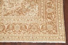 Vintage Traditional Floral MUTED Ardakan Room Size Area Rug Hand-made Wool 6'x9'
