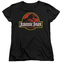 Jurassic Park Movie CLASSIC LOGO Licensed Women's T-Shirt All Sizes