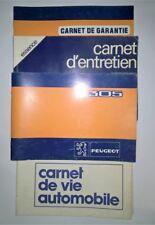 Guide manuel d'utilisation PEUGEOT 305 carnet d'entretien carnet vie automobile