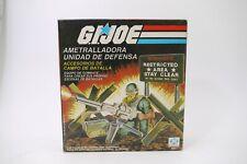 G.I Joe 1984 MACHINE GUN DEFENSE UNIT PLASTIRAMA ARGENTINA MIB 100% COMPLETE