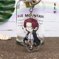 Hot Japan Anime ONE PIECE Akakami no shankusu Acrylic Key Ring Pendant Keychain