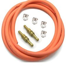 GAS HOSE WITH QUICK RELEASE SNAP FIT COUPLINGS 3M ORANGE LP LPG PROPANE HOSE