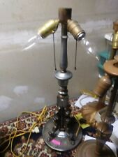 MILLER SIGNED LAMP BASE ELECTRIC 3 SOCKET HEAVY